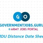 MDU Distance Date Sheet 2021 Released Download MDU DDE Exam Date Sheet