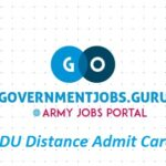 Latest MDU Distance Admit Card 2020 October Download - MDU Rohtak DDE Admit Card PDF