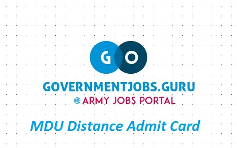 MDU DDE Admit Card 2020