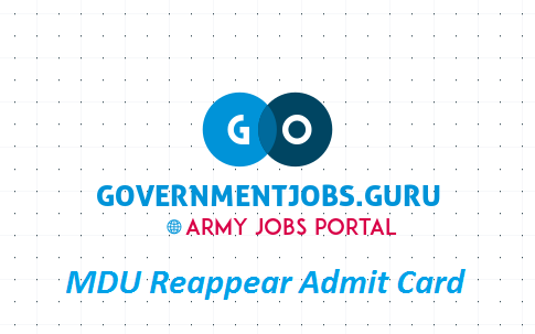 MDU Reappear Exam Admit Card 2020