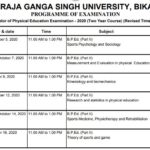 MGSU BPED Time Table 2020 Bikaner University BPED Exam Time Table and Exam Dates
